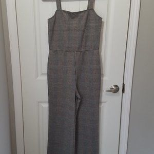 Sanctuary Check you later plaid jumpsuit M NWT